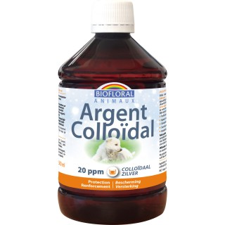 Argent Colloïdal Animaux 20 ppm, naturel, 500 ml