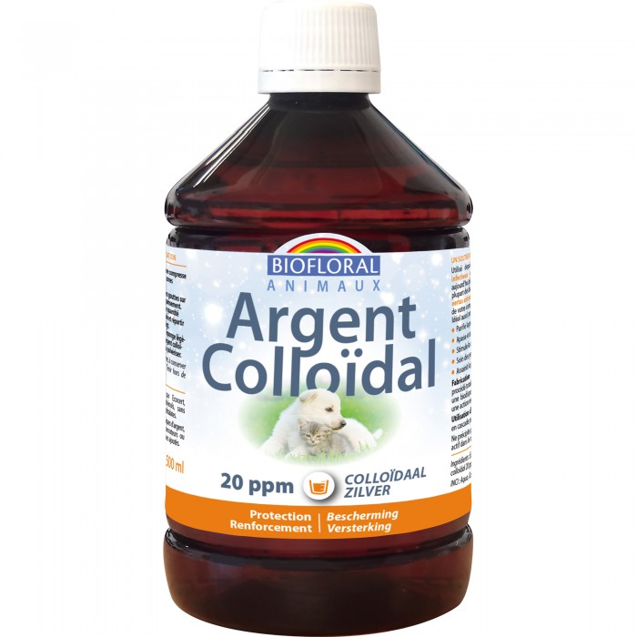 Argent Colloïdal Animaux 20 ppm, naturel, 500 ml
