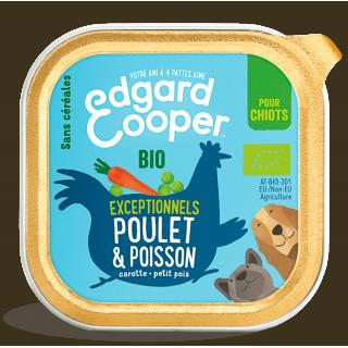 Barquette Repas 100 g Poulet et Poisson Bio (pour chiots)