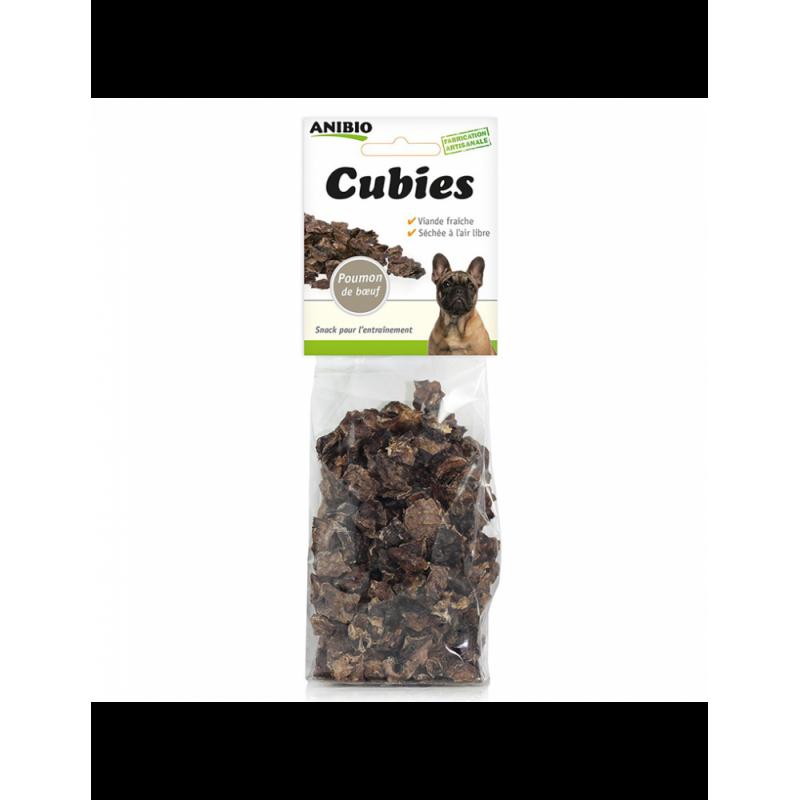 Friandises Cubies 99 % viande (Nouvelle variété Poumon de bœuf)