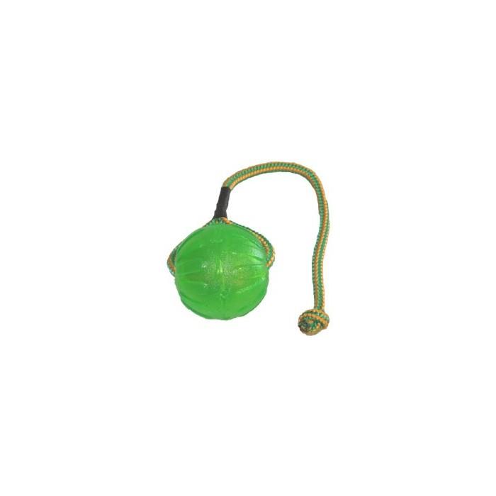 Balle Fluo avec corde (Swing'n Fling Chew Ball)