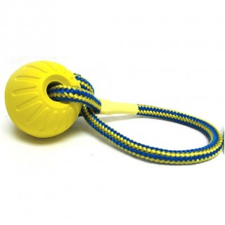 Fun Balle avec corde (Swing'n Fling DuraFoam Fetch Ball)