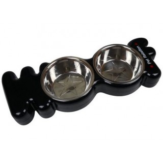 Gamelles jumelles (Pet Rebellion Woof Dog Bowl)