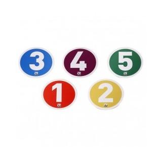 Disques de marquage au sol numérotés
