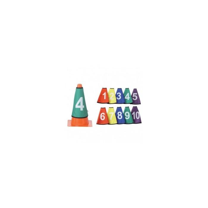 Cols de cône numérotés