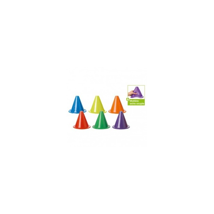 Cône Couleur Extra-Souple 18 cm - 6 coloris