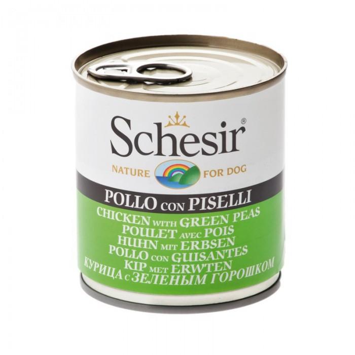 Aliment humide au poulet - 4 saveurs légumes (Schesir)