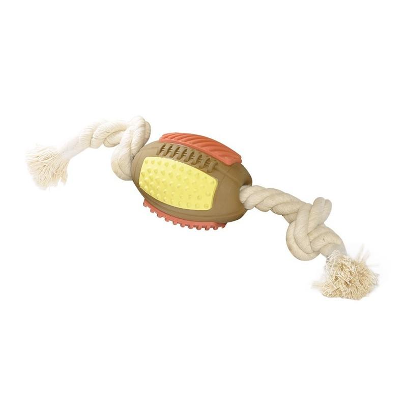 Ballon de rugby avec corde