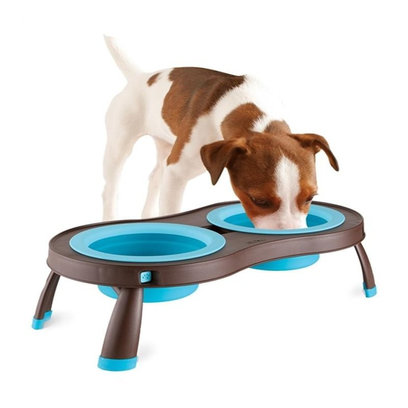 Gamelle Double Surélevée (Popware Double Elevated Pet Feeder)