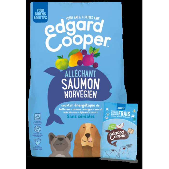 -12% Croquettes Edgard & Cooper – Saumon & Truite (2,5 kilos)