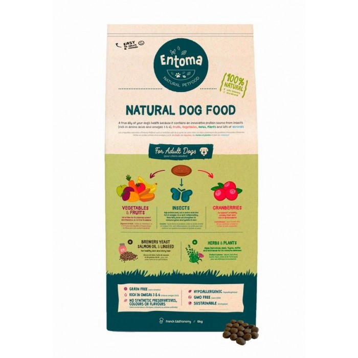 Croquettes naturelles aux insectes (Entoma's Natural Dog Food)