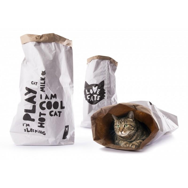 "Sac en Kraft 100 % recyclé ""Love Cats"""