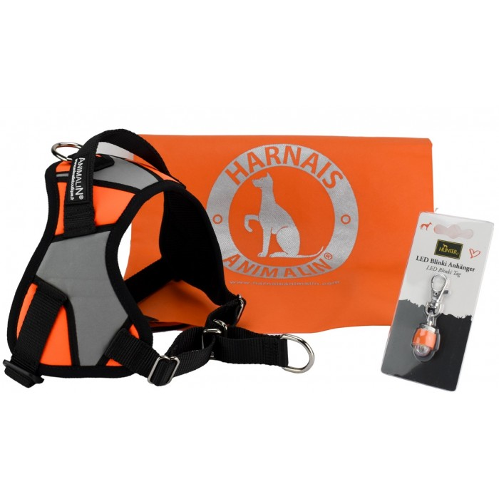 Prix de lancement -10 % – Harnais Animalin® REFLEX PLUS  (2 coloris/5 tailles)