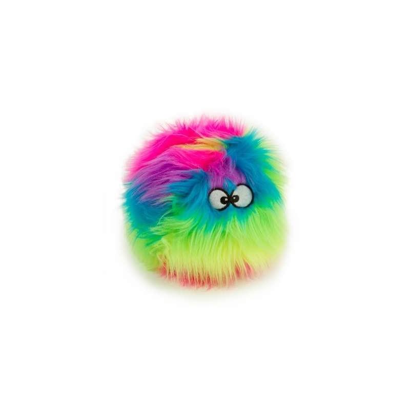 Balle Peluche Arc-en-Ciel (goDog Furballz Rainbow)