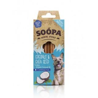 Sticks dentaires à Huile de Coco biologique (Soopa Dental Sticks)