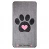 Tapis de protection Motif Cœur (Big Paws Pink Heart)