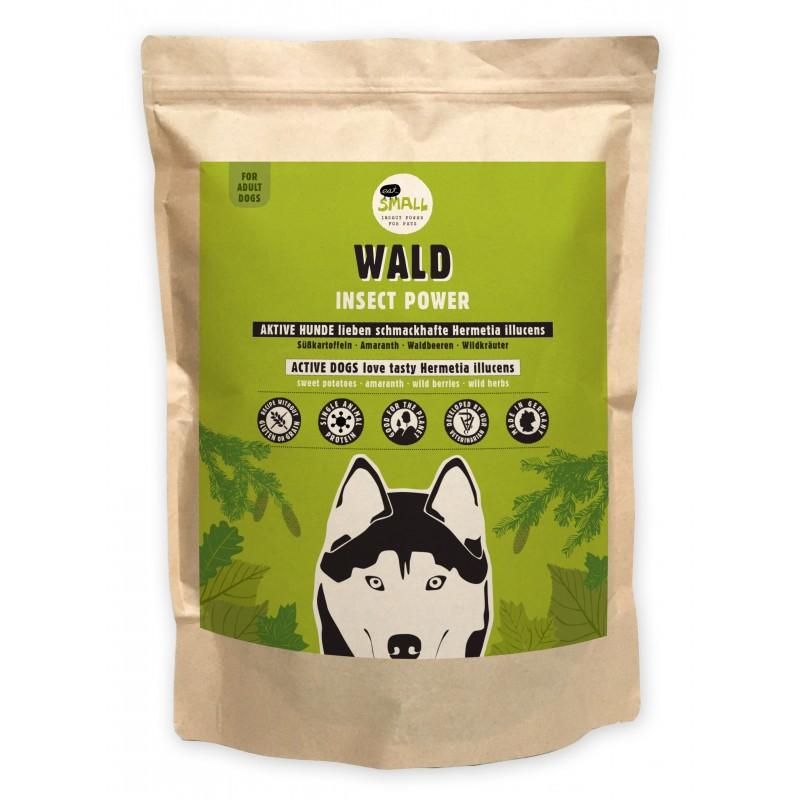Croquettes riches en protéines d'insectes pour chiens actifs (Variété Wald)