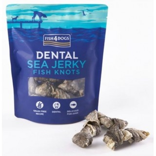 100 % Peaux de poisson séché – Nœuds craquants – 100 ou 500 g (Fish4Dogs Sea Jerky Fish Knots)