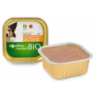 Repas BIO humide pour chiens adultes 150 g (2 variétés)