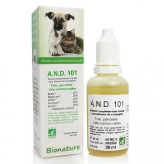 AND 101 Foie et pancréas – Extraits de plantes dynamisés Bionature (30 ml)