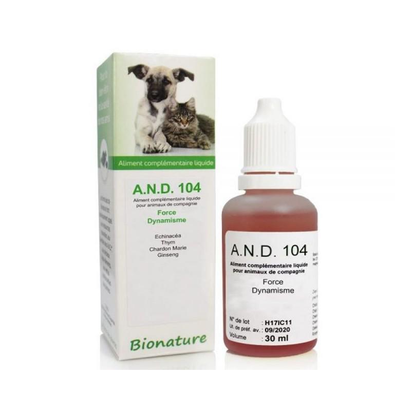 AND 104 Force Dynamisme – Extraits de plantes dynamisés Bionature (30 ml)