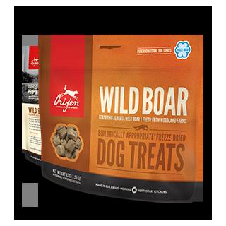 Friandises lyophilisées monoprotéiques au Sanglier (Orijen Wild Boar Dog Treats)